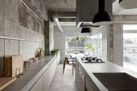 cuisine en beton decoration cuisine murs beton