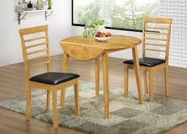 modern round light brown teak wood drop leaf kitchen table twin