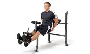 Weight Bench With Bar - marcy bench with weight set groupon