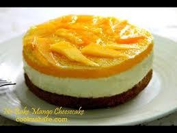 Kek Mango no bake mango cheesecake