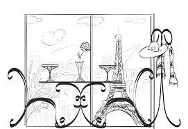 love in paris sketch stock illustration image 46115440