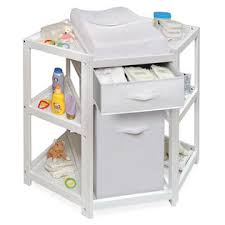 corner baby changing table badger basket 22009 diaper corner baby changing table w her and