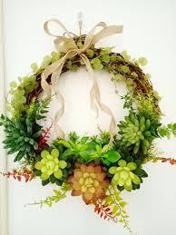 aliexpress com buy artificial succulent plants bowknot door