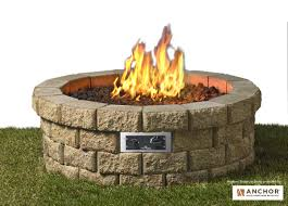 Outdoor Gas Fire Pit Hudson Stone Fire Pit Kit Fire Pits Fire Pits U0026 Fireplaces