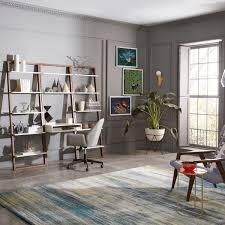 Narrow Ladder Bookcase by Ladder Shelf Desk Wide Bookshelf Set West Elm Uk