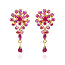 earrings in grt ruby 22 kt gold ruby necklace with earrings set grt jewellers