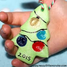 salt dough fingerprint tree