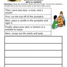 sequencing worksheet carving a pumpkin have fun teaching