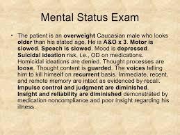 mental status exam template schizophrenia psychiatry case presentation