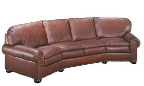 curved couch maverick 4 seat curved sofa creative leather