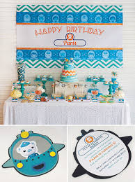 bright u0026 stylish octonauts inspired birthday party hostess