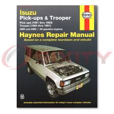 repair user isuzu trooper haynes manual