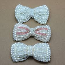 bow for hair aliexpress buy faux pearl bow diy handmade tie hair