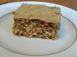 healthy life lessons carrot cake oatmeal squares with cream