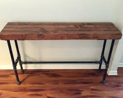 Sofa Bar Table Reclaimed Bar Table Etsy