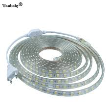 aliexpress com buy ac 220v led strip light smd5050 60leds m ip67