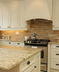 picture of backsplash kitchen travertine subway mix backsplash tile ivory beige brown