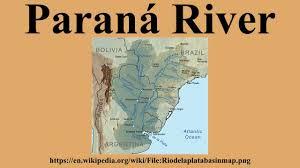 parana river map paraná river