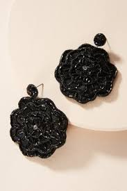 black earrings earrings for women drop chandelier posts anthropologie