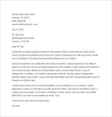 nanny cover letters professional nanny cover letter sample