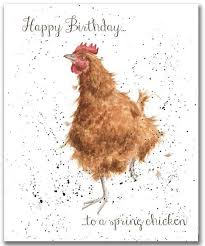 Anniversary Cards And Stationery Ebay Wrendale Designs Happy Birthday Card To A Spring Chicken By Hannah