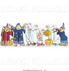 halloween clipart ghost clip art of halloween children in witch wizard and ghost costumes