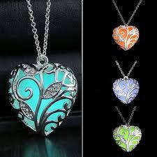 fairy pendant necklace images Unique magical fairy glow in the dark pendant locket heart jpg