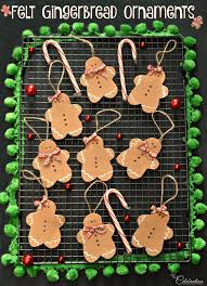 felt gingerbread ornaments miss celebration