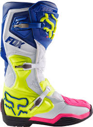 blue motocross boots fox accessories motocross fox comp 8 boots motocross blue white