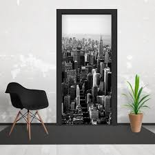 and white empire state new york skyline 3 piece door mural 95cm x black and white empire state new york skyline 3 piece door mural 95cm x 210cm