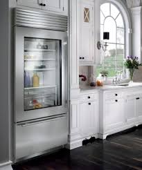 Steel Frame Kitchen Cabinets Kitchen Open Glass Refrigerator Idea With Stainless Steel Frame