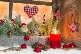 rustic lantern with candlelights for christmas classic
