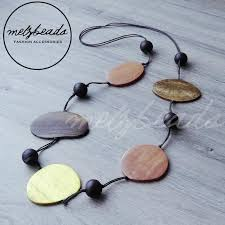 long wood bead necklace images Natural large flat long wooden bead necklace wooden jewelry jpeg