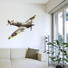 plane wall stickers ebay army spitfire plane bedroom lounge boys room wall sticker vinyl transfer mural