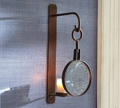 Glass Candle Wall Sconces Magnifying Glass Wall Mount Votive Sconce Traditional Glass Candle
