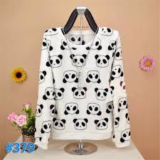 panda sweater brand yan mu xi brand 2017 winter panda keep