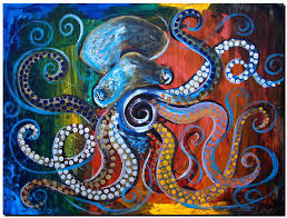 octopus ipaintfish com com abstract and modern fish art