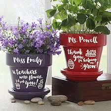personalized flower pot gifts for teachers personalized flower pots