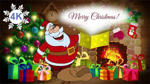 christmas animated card santa claus 4k cartoontower