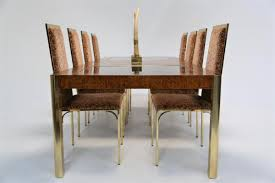 brass glass dining table burl brass glass dining table from century furniture 1970s for