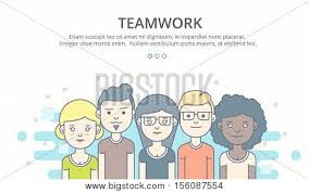 web page design template of company profile teamwork corporate