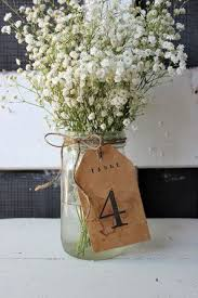 jar centerpieces for wedding tea stained vintage inspired tag table number wrapped around