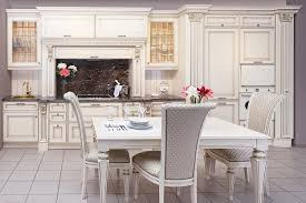 interesting classic kitchen design with white wooden vanity