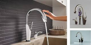 Touch Kitchen Faucets Reviews by Breathtaking Images Delta Touch Faucet Motion Sensor Kitchen