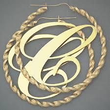 big gold hoop earrings 10k 4mm big initial twisted hoop earring 3 inch just like s