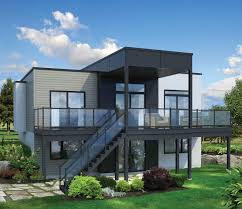 home plans for sloping lots modern house plans hillside slope with lake vi luxihome
