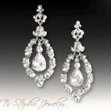 chandelier wedding earrings pearl bridal chandelier earrings rhinestone wedding