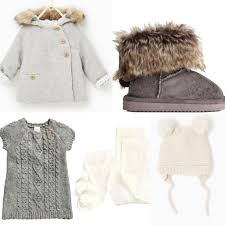 h m zara 2016 fall baby girl outfit idea h m grey knitted dress