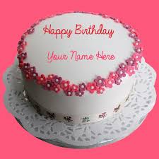 write name on birthday round cake and send on whatsapp