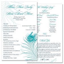 peacock wedding programs programs mcdonough ga